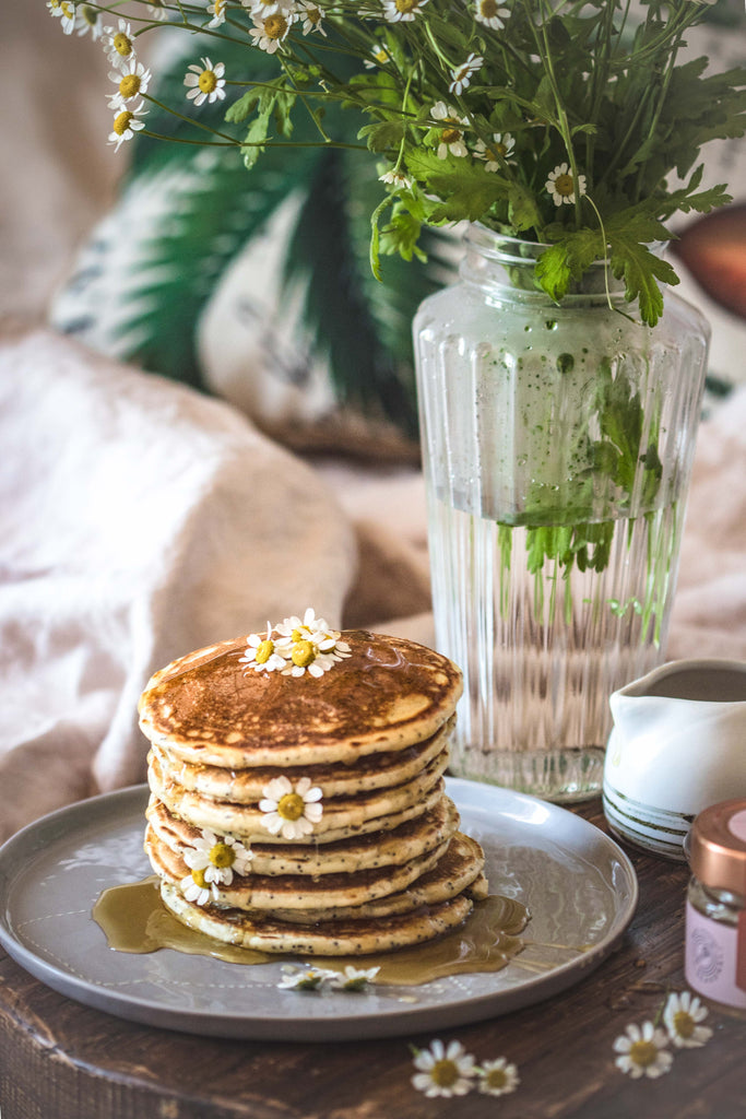 best pancakes with raw organic honey