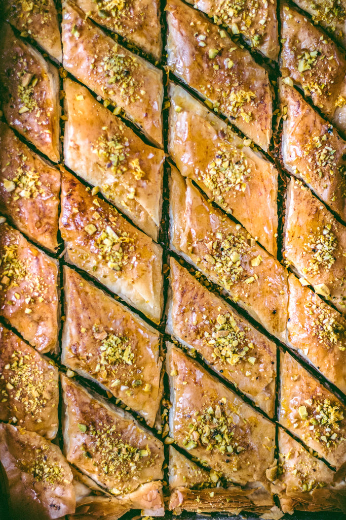 Organic Honey Baklava with Meyer Lemons