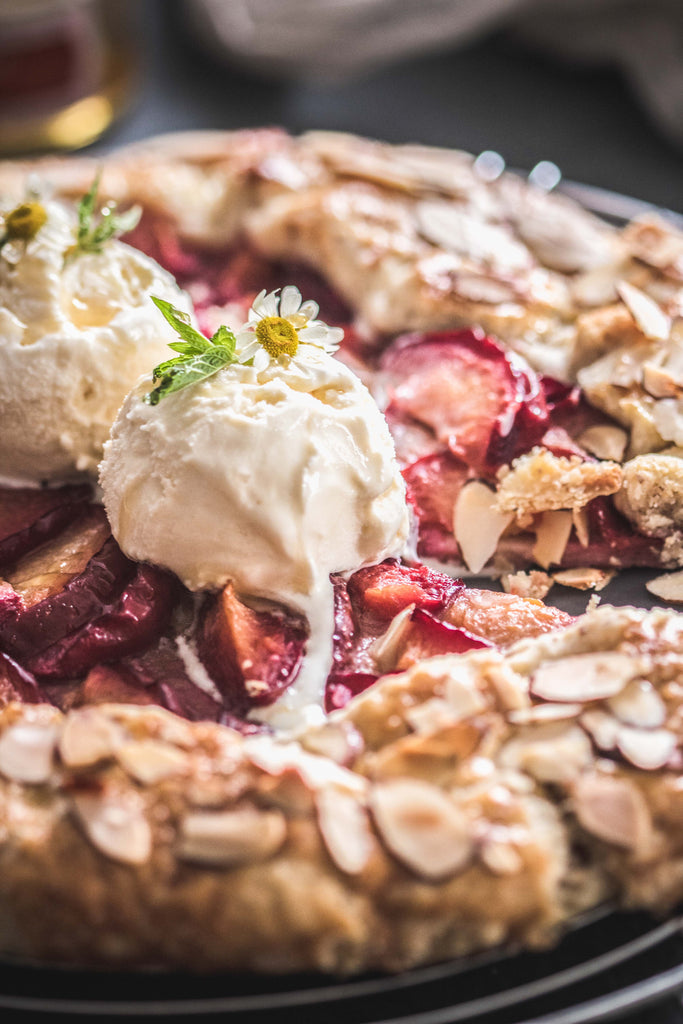Organic Honey Almond Plum Galette