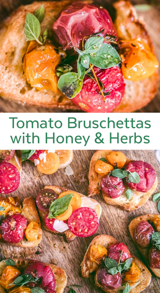 Tomato Bruschettas with Honey & Herbs