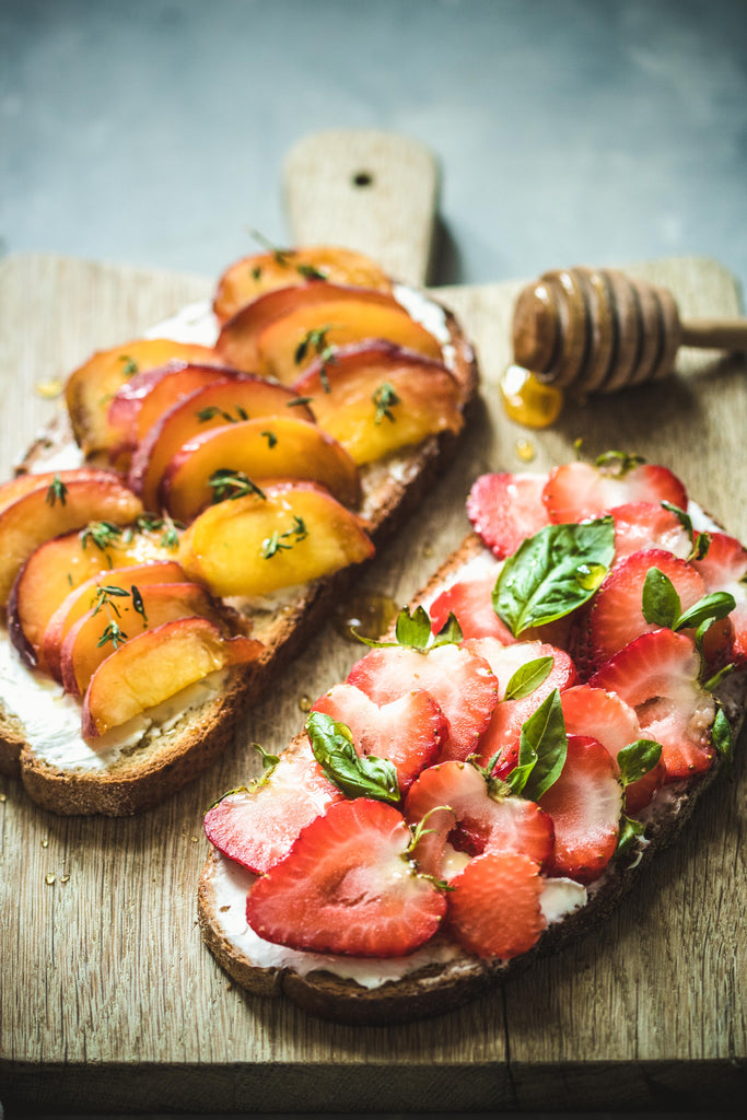 Strawberry Honey Breakfast Toast
