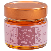 Honey Favor - Thank You For Beeing Here With Us - 24 Jars