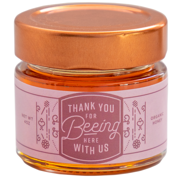 Honey Favors - Thank You For Beeing Here With Us - 24 Jars