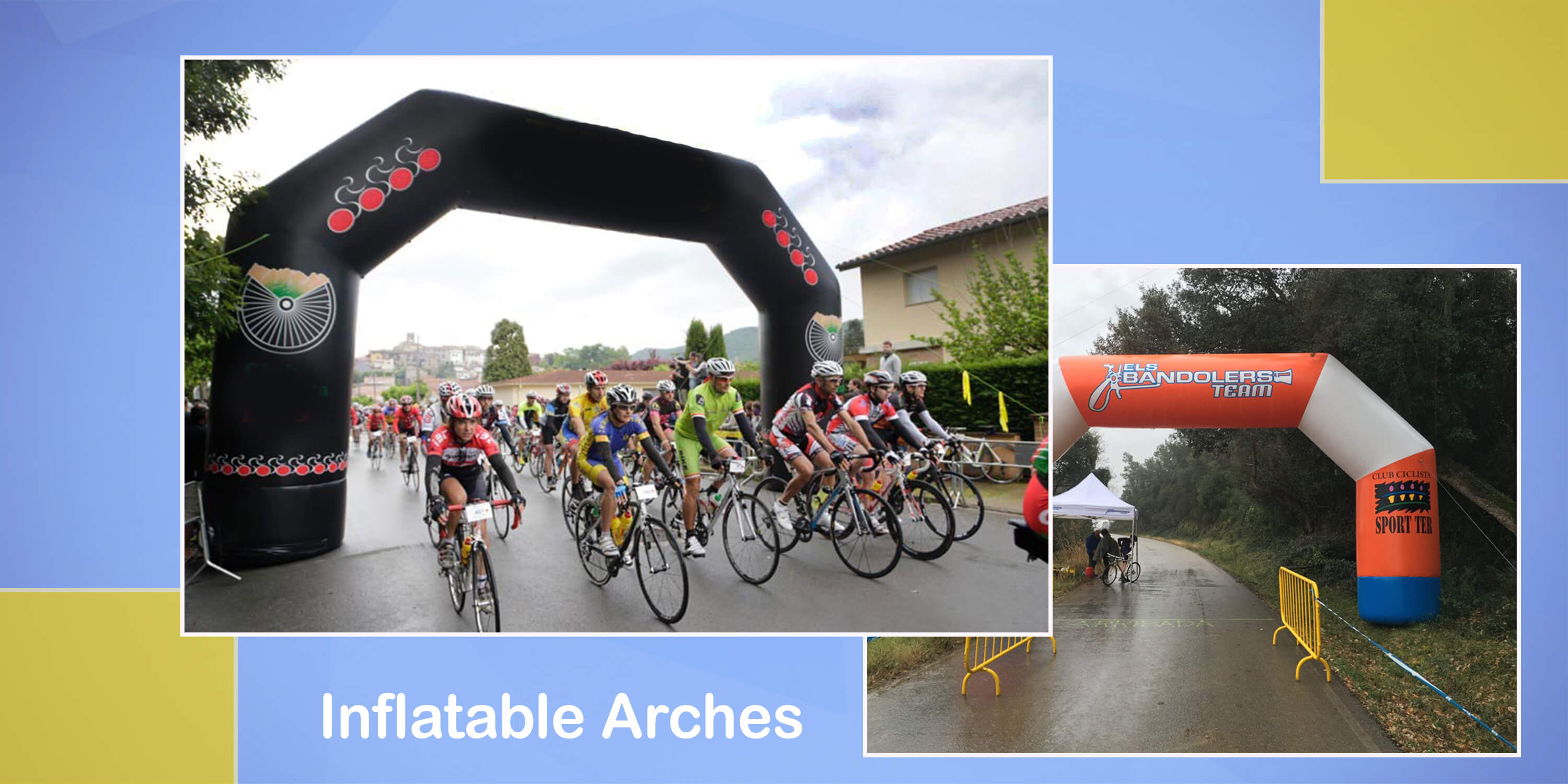 Inflatable sport entry arches