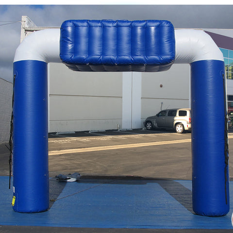 10 Ft Inflatable Arch (blue -white) - Inflataad