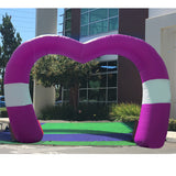 20Ft Inflatable Heart Arch - Inflataad