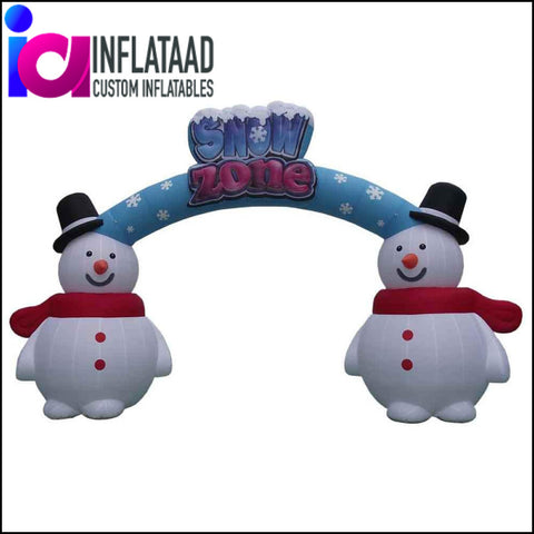 18Ft Inflatable Snowman Arch - Inflataad