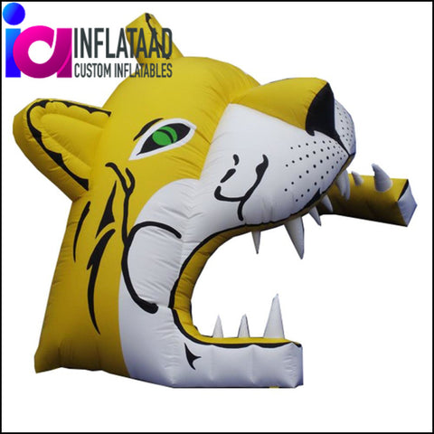 13Ft Inflatable Yellow Tiger Tunnels