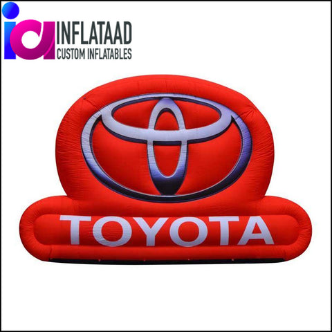 15 Ft Inflatable Logo Toyota Custom Inflatables