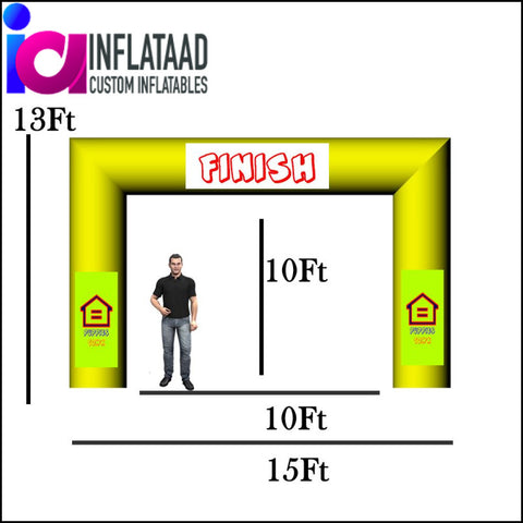 15 Ft Inflatable Arch  Tube Square - Inflataad