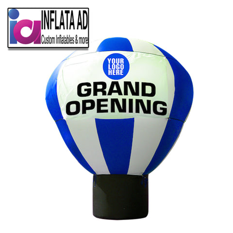 20Ft Inflatable Hot Air Balloon Blue-White - Inflataad