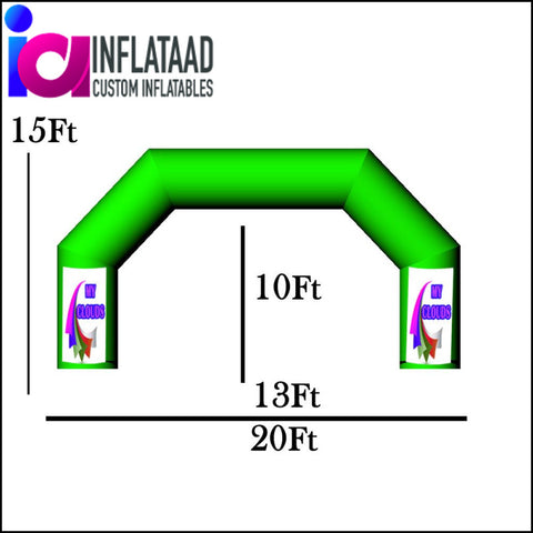 20 Ft Inflatable Arch Triangle - Inflataad