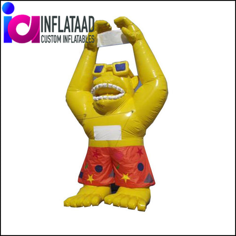 Inflatable 22Ft Yellow Gorilla Custom Inflatables