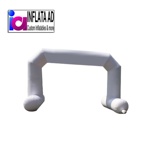 24Ft White Inflatable Arch - Inflataad