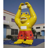 Inflatable 22Ft Yellow Gorilla