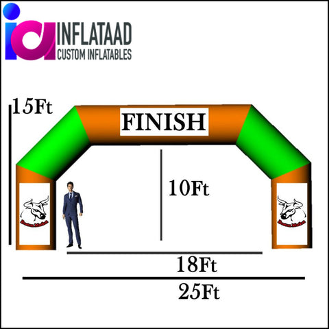 25Ft Inflatable Arch Triangle - Inflataad