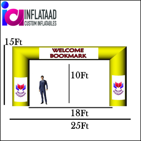 25 Ft Inflatable Arch Tube Square - Inflataad
