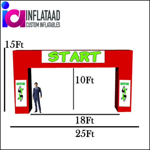 25 Ft Inflatable Arch Square - Inflataad