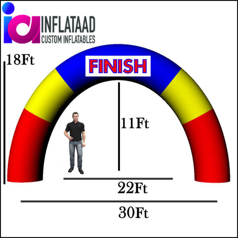 30 Ft Inflatable Arch Circle - Inflataad
