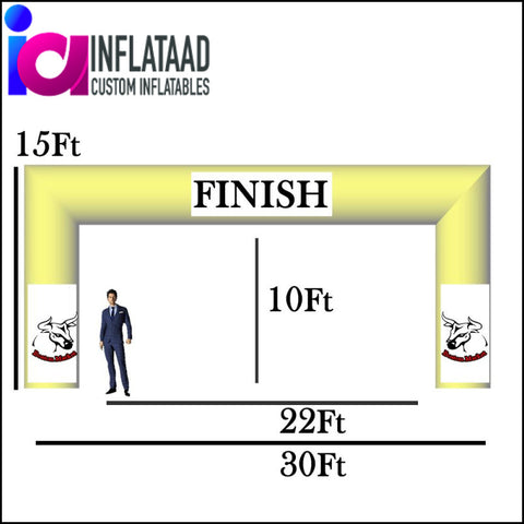 30 Ft Inflatable Arch Tube Square - Inflataad