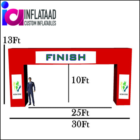 30 Ft Inflatable Arch Square - Inflataad