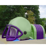 Football Helmet Tunnel Green Purple - Inflataad