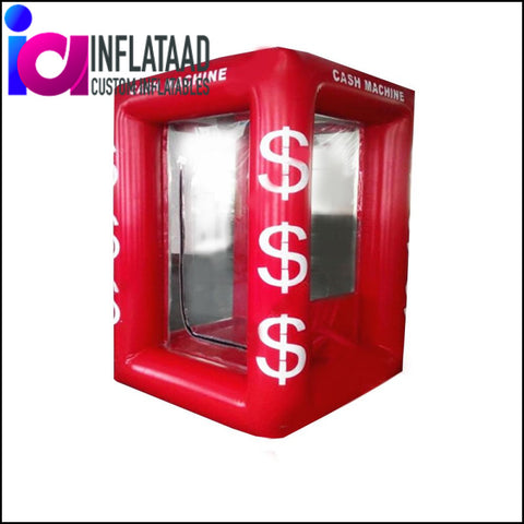 7 Ft Red Inflatable Cash Cube Custom Inflatables