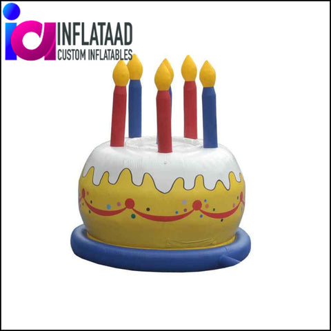 Inflatable Birthday-Cake Custom Inflatables