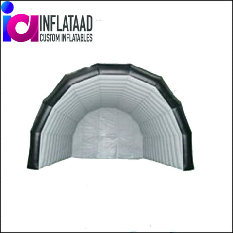 12Ft Inflatable Black & White Tent - Inflataad