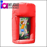 Inflatable Cash Cube Red - Inflataad