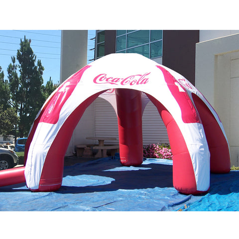 12 Ft Inflatable Spider Tent (Red-White) - Inflataad