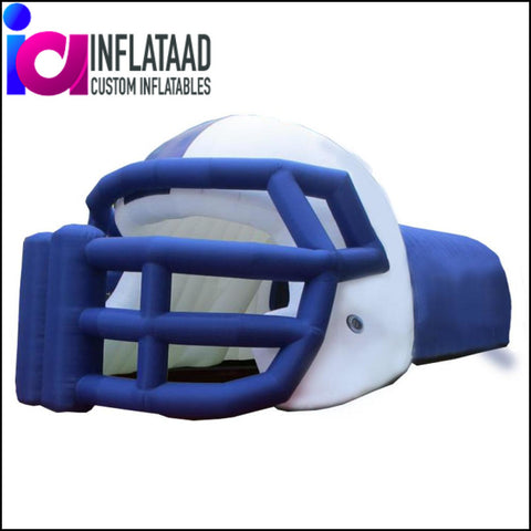 Football Helmet  Tunnel Blue White - Inflataad