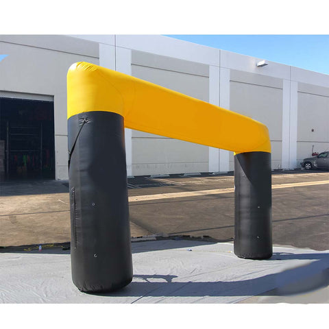 15Ft Inflatable Arch Black-Yellow - Inflataad