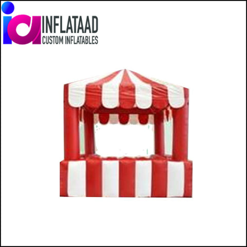 13Ft Inflatable Red & White Tent - Inflataad