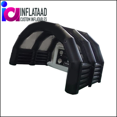 9Ft Black Inflatable Tent - Inflataad