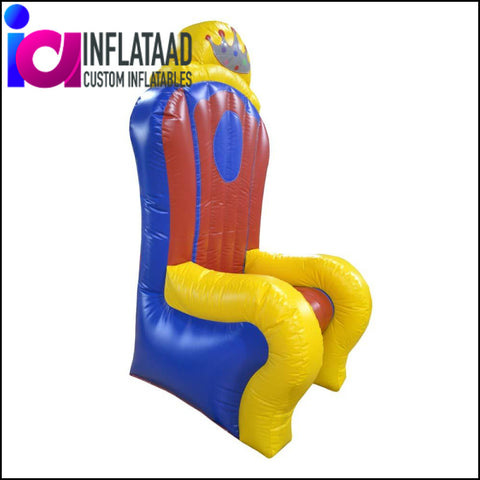 Inflatable Chair Blue & Yellow Custom Inflatables