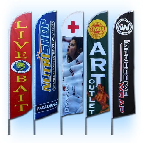 15ft Custom Windless Feather Flag - Inflataad
