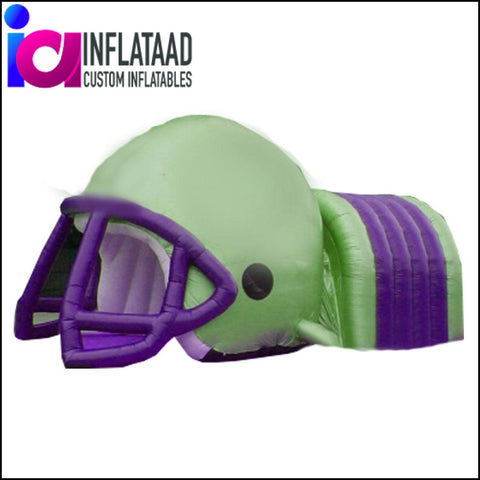 Football Helmet Tunnel Green Purple Tunnels