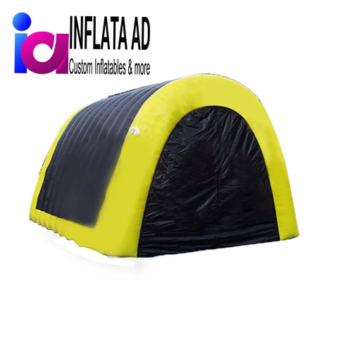 10ft Inflatable Tunnel Black/Yellow - Inflataad