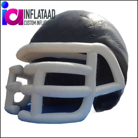 Inflatable Football Helmet Tunnel - Black/White - Inflataad