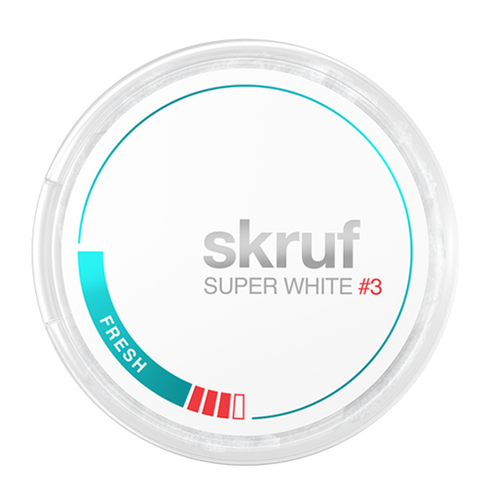 Skruf Super White Slim Fresh Stærk