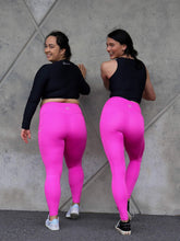 Load image into Gallery viewer, Tall Girl Premium Monarch Leggings - Vibrant Pink