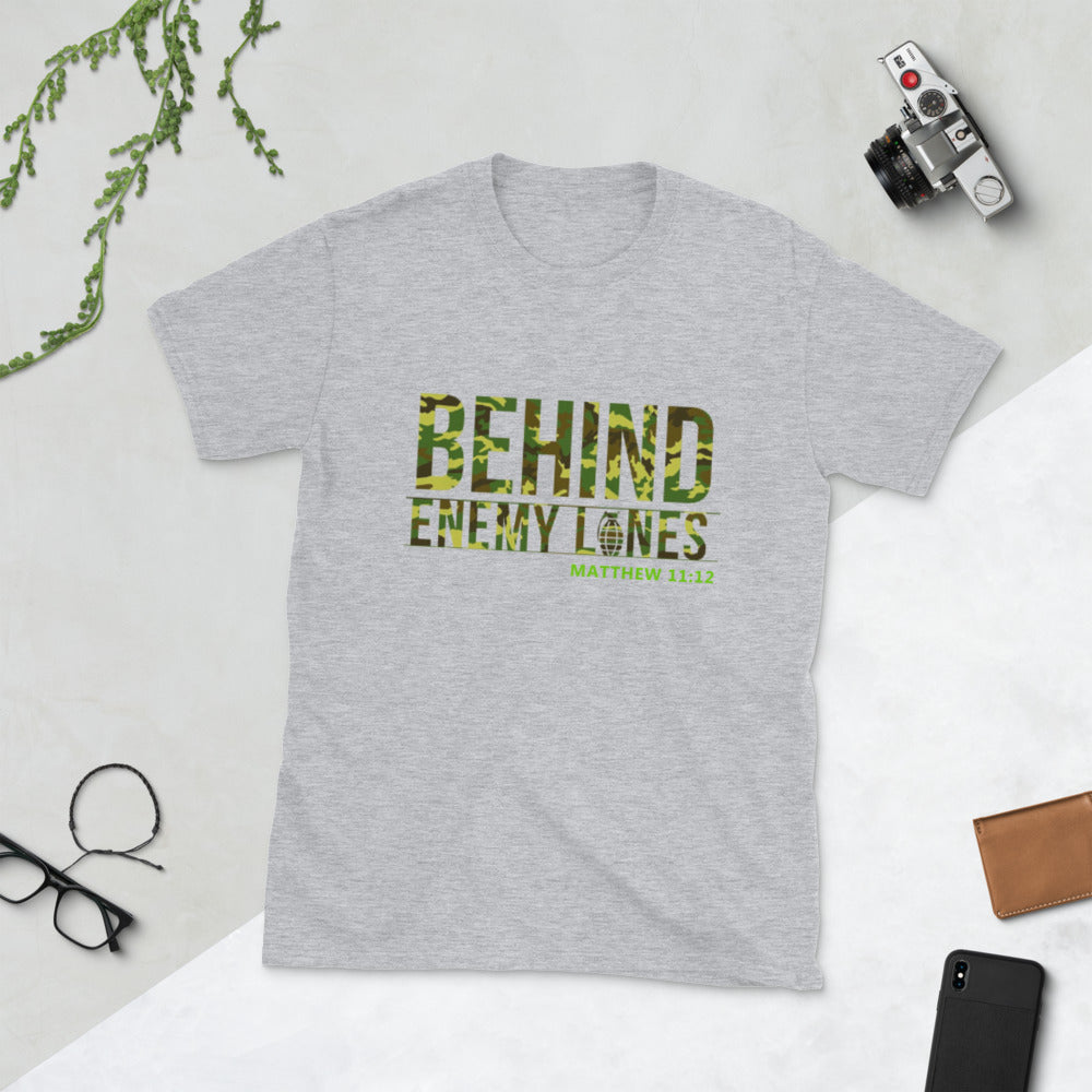 Behind Enemy Lines Camo Short-Sleeve Unisex T-Shirt