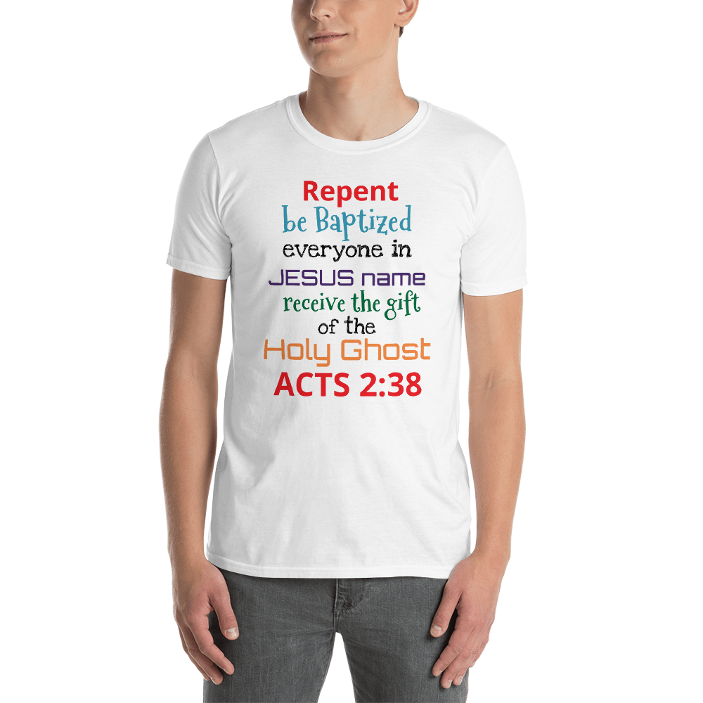 Acts 2:38 Rainbow Short-Sleeve Unisex T-Shirt