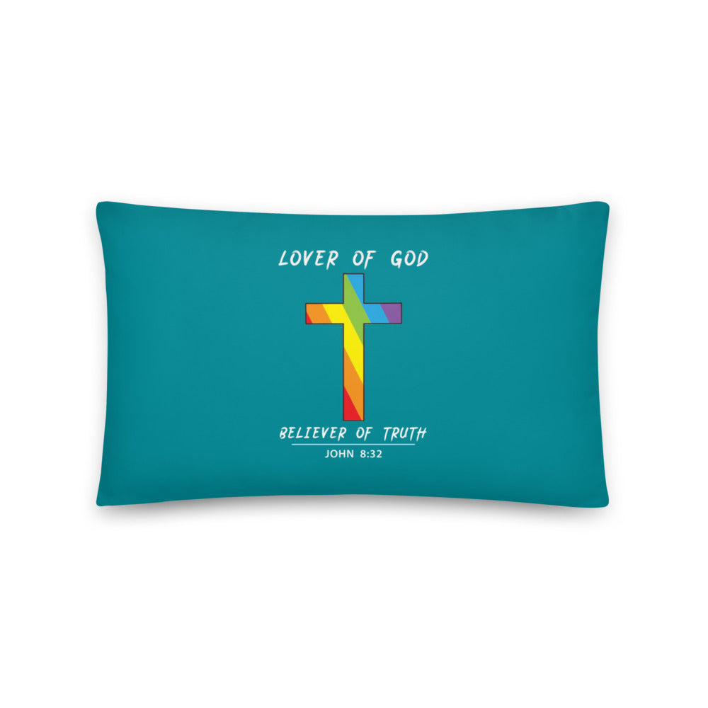 Lover of God Believer of Truth Prayer Pillow