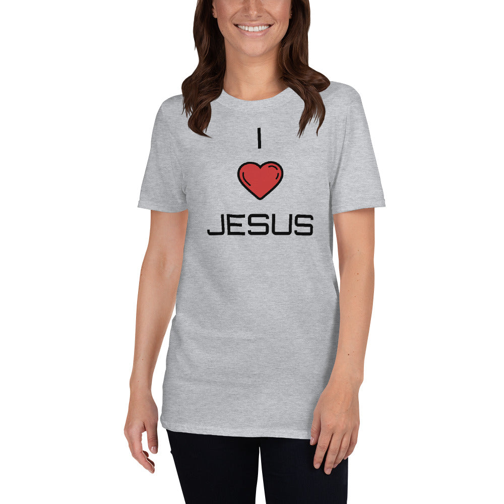 I Love Jesus Short-Sleeve Unisex T-Shirt