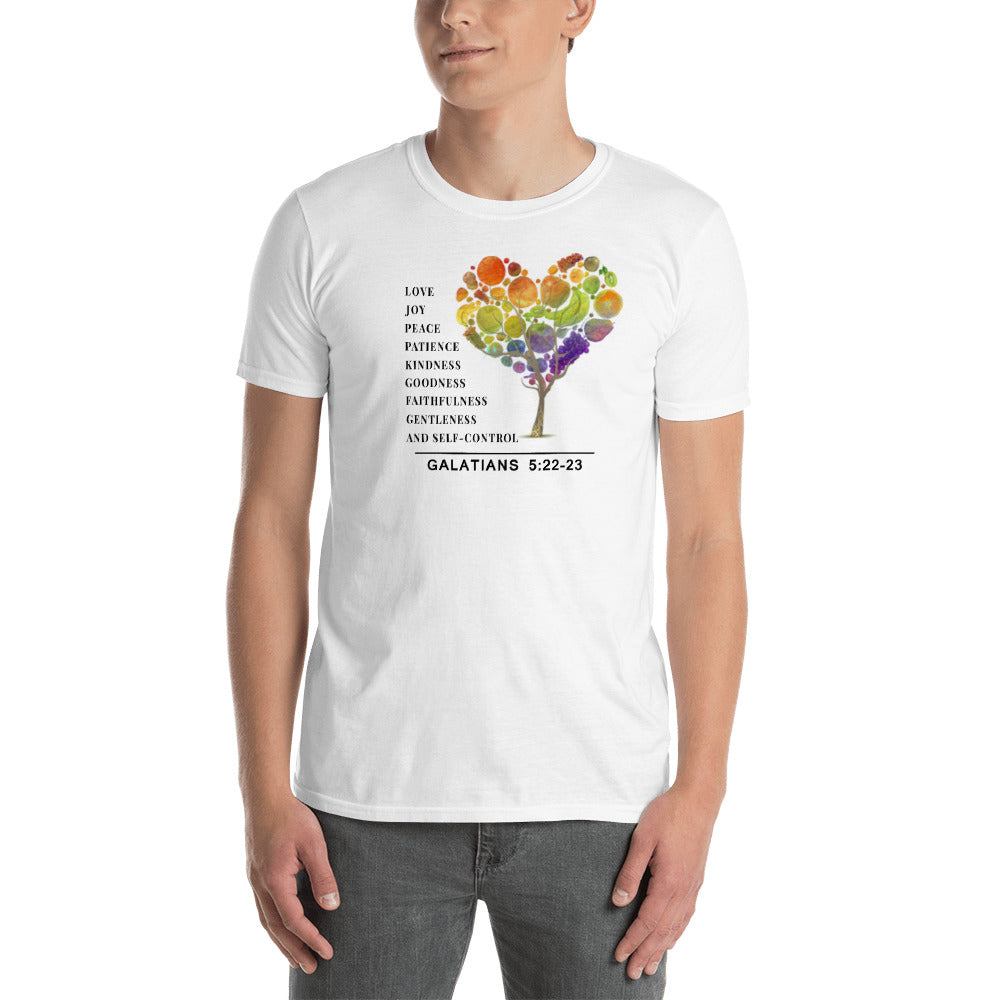 Fruit of the Spirit wht & grey Short-Sleeve Unisex T-Shirt
