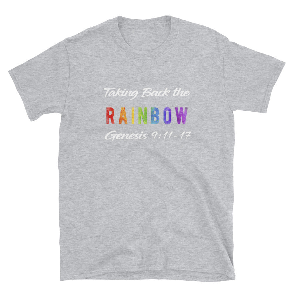 Taking Back the Rainbow blk & grey Short-Sleeve Unisex T-Shirt
