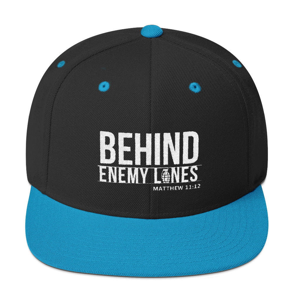 Behind Enemy Lines- Wht Embroidery, Assorted Colors Snapback Hat
