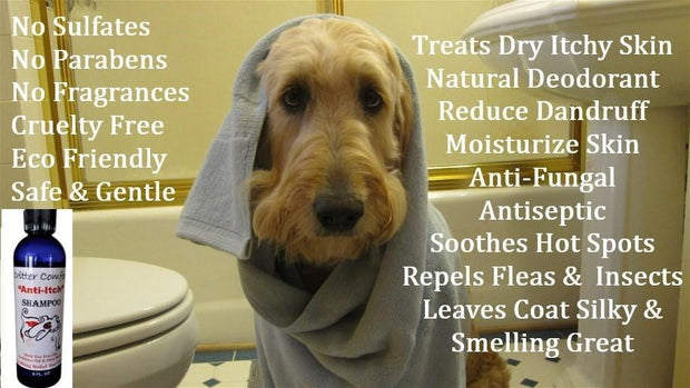 Dog Shampoo for Dry, Itchy & Sensitive Skin| Allergy Relief with Tea-Tree| Critter Comfort
